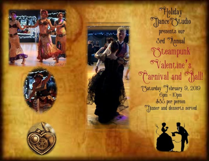 Steampunk Valentine's Carnival and Ball, Holiday Dance Studio